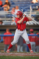 Williamsport Crosscutters catcher Henri Lartigue (40) at bat during a game against the Batavia Muckdogs on September 2, 2016 at Dwyer Stadium in Batavia, New York.  Williamsport defeated Batavia 9-1. (Mike Janes/Four Seam Images)
