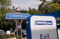 A Comerica Bank drive-through ATM is seen in Ann Arbor, Michigan Thursday June 6, 2013.