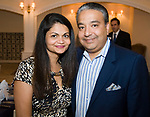 SOUTHINGTON, CT-092617JS23-- Punita Ramchandani and David Ramchandani of Ram's Clothiers, at the 23rd annual Malcolm Baldrige Chamber Awards Dinner held at the Aqua Turf in Southington. <br /> Jim Shannon Republican-American