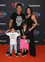08 November 2017 - Hollywood, California - Mario Lopez, Courtney Laine Mazza, Dominic Lopez, Gia Francesca Lopez. Disney Pixar's &quot;Coco&quot; Los Angeles Premiere held at El Capitan Theater. <br /> CAP/ADM/FS<br /> &copy;FS/ADM/Capital Pictures