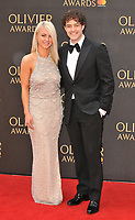 guest and Lee Mead at the Olivier Awards 2018, Royal Albert Hall, Kensington Gore, London, England, UK, on Sunday 08 April 2018.<br /> CAP/CAN<br /> &copy;CAN/Capital Pictures<br /> CAP/CAN<br /> &copy;CAN/Capital Pictures
