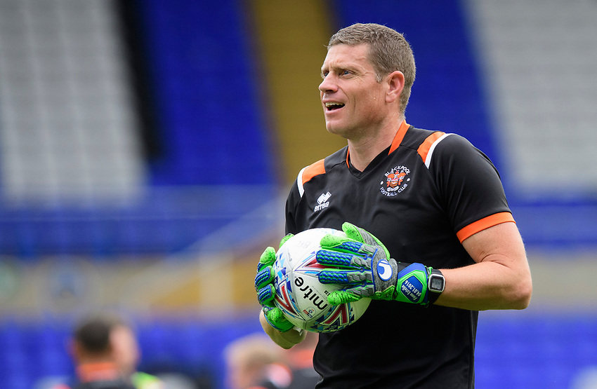 Blackpool's goalkeeping coach Steve Banks during the pre-match warm-up<br /> <br /> Photographer Chris Vaughan/CameraSport<br /> <br /> The EFL Sky Bet League One - Coventry City v Blackpool - Saturday 7th September 2019 - St Andrew's - Birmingham<br /> <br /> World Copyright © 2019 CameraSport. All rights reserved. 43 Linden Ave. Countesthorpe. Leicester. England. LE8 5PG - Tel: +44 (0) 116 277 4147 - admin@camerasport.com - www.camerasport.com
