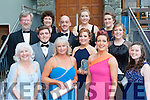 Tralee Light Opera Society members all dressed up at the All Ireland Musical society awards in the INEC on Saturday night front row l-r: Myra Blackwater, Collette Jensen, Tara Dore, Mairead  Fitzmaurice. Middle row: Eric Heaslip, Aisling O'Carroll, Orla O'Carroll. Back row: Aidan O'Carroll, Eileen O'Carroll, Niall Fitzgerald, Grainne O'Carroll and Doireann O'Carroll