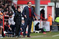 Crewe Alexandra manager David Artell during Stevenage vs Crewe Alexandra, Sky Bet EFL League 2 Football at the Lamex Stadium on 10th March 2018