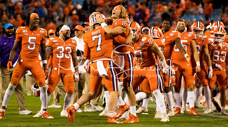 Photography coverage of the 2019 ACC Championship Game between the Clemson Tigers v. Virginia Cavaliers at Bank of America Stadium in Charlotte, NC.<br /> <br /> Charlotte Photographer - PatrickShcneiderPhoto.com