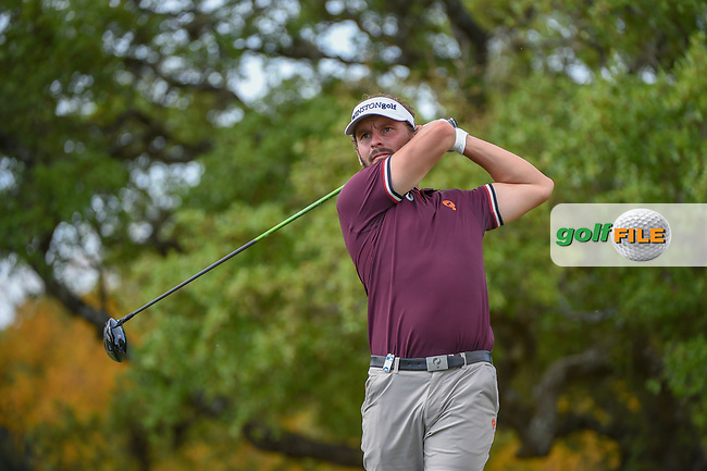 Joost Luiten (NED) watches his tee shot on 2 during day 1 of the Valero Texas Open, at the TPC San Antonio Oaks Course, San Antonio, Texas, USA. 4/4/2019.<br /> Picture: Golffile   Ken Murray<br /> <br /> <br /> All photo usage must carry mandatory copyright credit (© Golffile   Ken Murray)