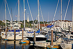 A marina on the Newport waterfront, Newport, Narragansett Bay, RI, USA
