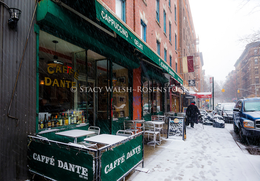 New York, NY 1 March 2015 - Caffe Dante, one of the last remaining bohemian style coffee houses on MacDougal Street