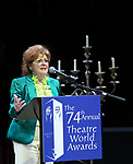 Anita Gillette during the 74th Annual Theatre World Awards at Circle in the Square on June 4, 2018 in New York City.