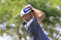 Gregory Havret (FRA) tees off the 13th tee during Thursday's Round 1 of the 2016 Portugal Masters held at the Oceanico Victoria Golf Course, Vilamoura, Algarve, Portugal. 19th October 2016.<br /> Picture: Eoin Clarke | Golffile<br /> <br /> <br /> All photos usage must carry mandatory copyright credit (&copy; Golffile | Eoin Clarke)