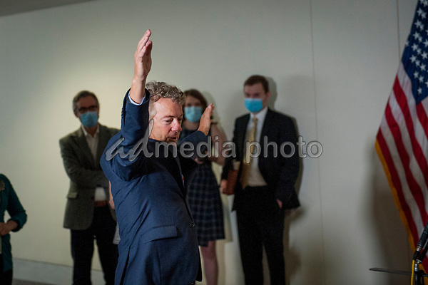 United States Senator Rand Paul (Republican of Kentucky) arrives for the GOP luncheon in the Hart Senate Office Building on Capitol Hill in Washington, DC., Tuesday, June 16, 2020. <br /> Credit: Rod Lamkey / CNP/AdMedia