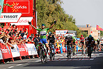 Matteo Trentin (ITA) Quick-Step Floors outsprints Gianni Moscon (ITA) Team Sky to win Stage 13 of the 2017 La Vuelta, running 198.4km from Coin to Tomares, Seville, Spain. 1st September 2017.<br />