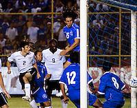 Frankie Hejduk scores during the FIFA World Cup qualifiers against El Salvador. USA tied El Salvador 2-2 at Estadio Cuscatlán Stadium in El Salvador on March 28, 2009.