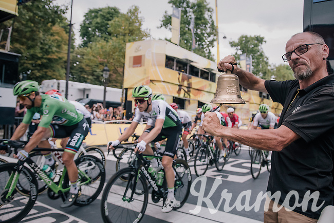 Peter Sagan (SVK/Bora-Hansgrohe) entering the last lap!<br /> <br /> Stage 21: Houilles > Paris / Champs-Élysées (115km)<br /> <br /> 105th Tour de France 2018<br /> ©kramon