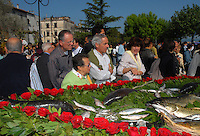 "Population offers to ""Madonna del Monte"" the best fresh fish"