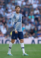 Ben Davies of Tottenham Hotspur warms up before the Premier League match between Tottenham Hotspur and Crystal Palace at Wembley Stadium, London, England on 14 September 2019. Photo by Vince  Mignott / PRiME Media Images.