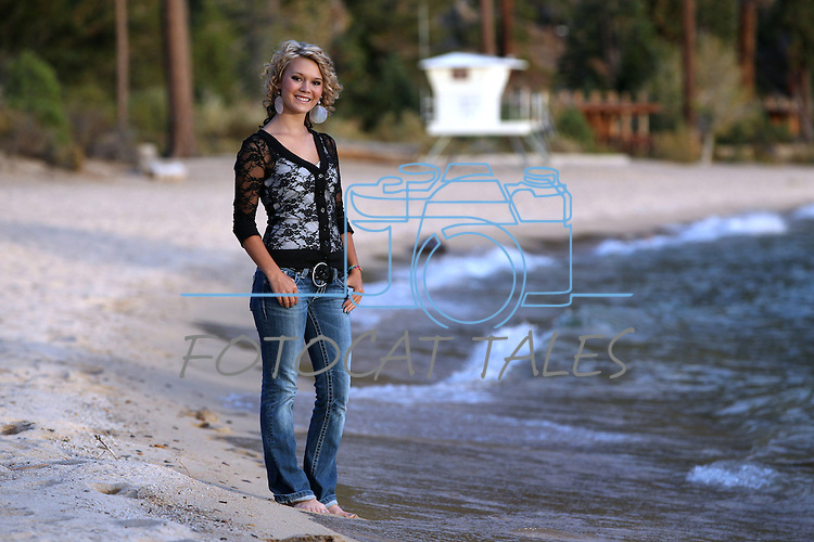Senior portraits at Sand Harbor, near Incline Village, Nev., on Friday, Oct. 5, 2012. <br /> Photo by Cathleen Allison