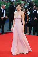 Dakota Johnson attends the red carpet for the movie 'Black Mass' during 72nd Venice Film Festival at the Palazzo Del Cinema in Venice, Italy, September 4, 2015. <br /> UPDATE IMAGES PRESS/Stephen Richie