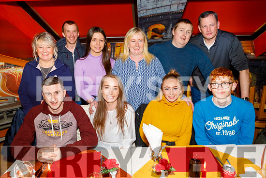 Sisters Sarah (30) and Sophie (18) Morris celebrating their birthdays in Ristorante Uno on Thursday. <br /> Seated l to r: Eamon Morrissey, Sarah and Sophie Morris and Ryan Hurley.<br /> Back l to r: Vivien Paulis, Dermot O'Shea, Casey Borst, Sheila Dwyer, Keith Morris and Eugene Borst.