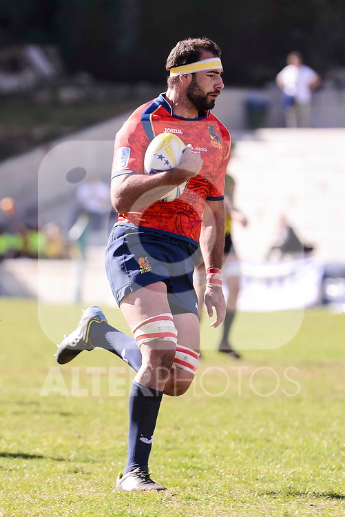 Spain's Iñaki Villanueva during Rugby Europe Championship 2017 match between Spain and Belgium in Madrid. March 18, 2017. (ALTERPHOTOS/Borja B.Hojas)