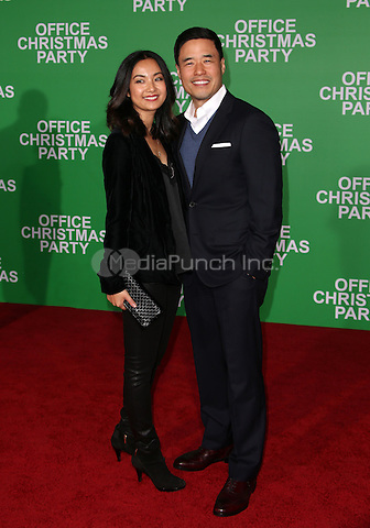 "Westwood, CA - DECEMBER 07: Randall Park, Jae Suh Park, At Premiere Of Paramount Pictures' ""Office Christmas Party"" At Regency Village Theatre, California on December 07, 2016. Credit: Faye Sadou/MediaPunch"