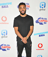 Yungen (CJ Brooks)  at the Capital FM Summertime Ball 2018, Wembley Stadium, Wembley Park, London, England, UK, on Saturday 09 June 2018.<br /> CAP/CAN<br /> &copy;CAN/Capital Pictures