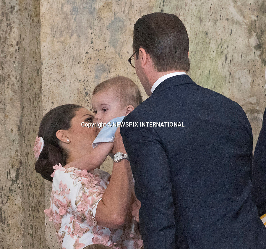 14.07.2017; Stockholm Sweden: CROWN PRINCESS VICTORIA, CROWN PRINCE DANIEL, PRINCESS ESTELLE AND PRINCE OSCAR <br />attend the church service to celebrate Crown Princess Victoria&rsquo;s 40th Birthday at the Royal Chapel in Stockholm<br />Mandatory Photo Credit: &copy;Francis Dias/NEWSPIX INTERNATIONAL<br /><br />IMMEDIATE CONFIRMATION OF USAGE REQUIRED:<br />Newspix International, 31 Chinnery Hill, Bishop's Stortford, ENGLAND CM23 3PS<br />Tel:+441279 324672  ; Fax: +441279656877<br />Mobile:  07775681153<br />e-mail: info@newspixinternational.co.uk<br />Usage Implies Acceptance of Our Terms &amp; Conditions<br />Please refer to usage terms. All Fees Payable To Newspix International