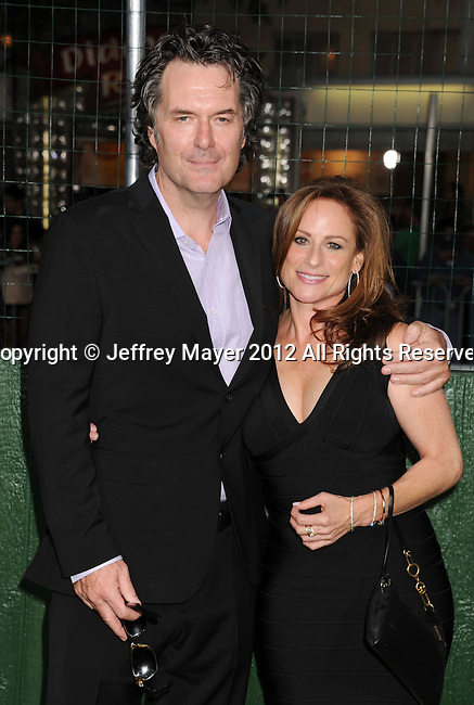 WESTWOOD, CA - SEPTEMBER 19: Randy Brown and Michele Weisler arrive at the 'Trouble With The Curve' at Mann's Village Theatre on September 19, 2012 in Westwood, California.