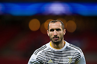 Giorgio Chiellini of Juventus during the pre-match warm-up <br /> <br /> Photographer Craig Mercer/CameraSport<br /> <br /> UEFA Champions League Round of 16 Second Leg - Tottenham Hotspur v Juventus - Wednesday 7th March 2018 - Wembley Stadium - London <br />  <br /> World Copyright &copy; 2017 CameraSport. All rights reserved. 43 Linden Ave. Countesthorpe. Leicester. England. LE8 5PG - Tel: +44 (0) 116 277 4147 - admin@camerasport.com - www.camerasport.com