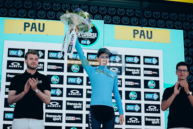 Marta Cavalli (ITA) Valcar-Cylance Cycling continues to lead the UCI Women's WorldTour U23 ranking classification at the end of La Course 2019 By Le Tour running 121km from Pau to Pau, France. 19th July 2019.<br /> Picture: ASO/Thomas Maheux | Cyclefile<br /> All photos usage must carry mandatory copyright credit (© Cyclefile | ASO/Thomas Maheux)