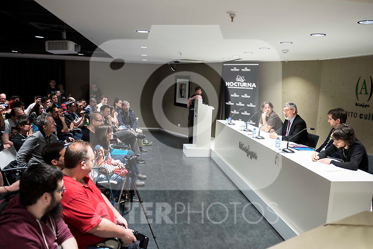 "All the supporters during the press conference to present the book ""John Landis. Un Hombre Lobo en Hollywood"" in Madrid. May 27, 2016. (ALTERPHOTOS/Borja B.Hojas)"