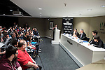 """All the supporters during the press conference to present the book """"John Landis. Un Hombre Lobo en Hollywood"""" in Madrid. May 27, 2016. (ALTERPHOTOS/Borja B.Hojas)"""