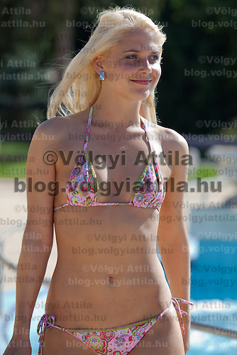 Participant of the Miss Bikini Hungary beauty contest held in Budapest, Hungary. Sunday, 29. August 2010. ATTILA VOLGYI