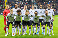 Mannschaftsfoto gegen Nordirland - 19.11.2019: Deutschland vs. Nordirland, Commerzbank Arena Frankfurt, EM-Qualifikation DISCLAIMER: DFB regulations prohibit any use of photographs as image sequences and/or quasi-video.