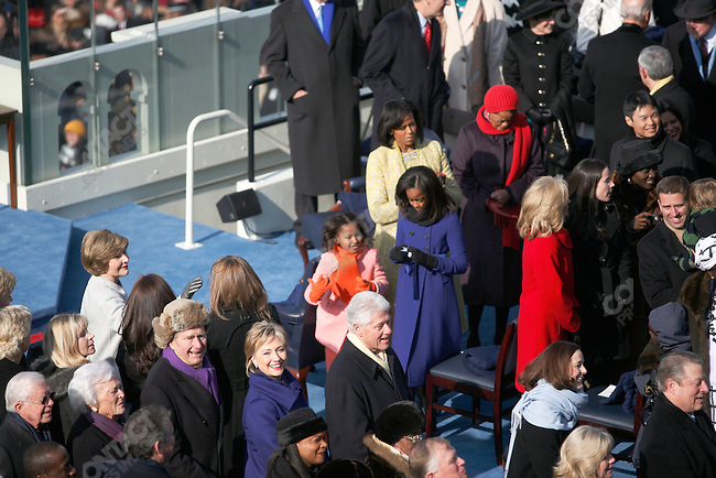 Inauguration of Barack Obama as the 44th President of the United States of America, former presidents Jimmy Carter, George Bush and Bill Clinton, Washington, D.C., January 20, 2009
