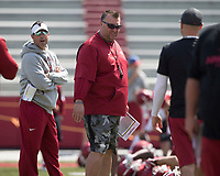 HAWGS ILLUSTRATED JASON IVESTER<br /> Arkansas football practice on Saturday, April 15, 2017, at Donald W. Reynolds Razorback Stadium in Fayetteville