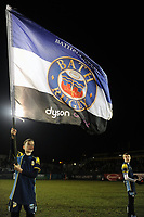 A Bath Rugby mascot waves a giant Bath Rugby flag during the pre-match warm-up. Premiership Rugby Cup match, between Bath Rugby and Gloucester Rugby on February 3, 2019 at the Recreation Ground in Bath, England. Photo by: Patrick Khachfe / Onside Images