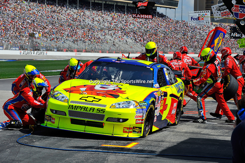 Mar 08, 2009; 1:31:16 PM; Hampton, GA, USA; NASCAR Sprint Cup Series race for the Kobalt Tools 500 at the Atlanta Motor Speedway.  Mandatory Credit: (thesportswire.net)