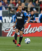Jason Hernandez of the Earthquakes in action during the game against the Red Bulls at Buck Shaw Stadium in Santa Clara, California.  San Jose Earthquakes defeated New York Red Bulls, 4-0.