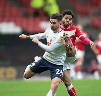 Bristol City's Jay Dasilva (right) battles with Preston North End's Sean Maguire (left) <br /> <br /> Photographer David Horton/CameraSport<br /> <br /> The EFL Sky Bet Championship - Bristol City v Preston North End - Saturday 10th November 2018 - Ashton Gate Stadium - Bristol<br /> <br /> World Copyright &copy; 2018 CameraSport. All rights reserved. 43 Linden Ave. Countesthorpe. Leicester. England. LE8 5PG - Tel: +44 (0) 116 277 4147 - admin@camerasport.com - www.camerasport.com