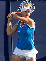 Olga Govortsova (BLR) against Agnes Szavay (HUN) in the first round of the women's singles. Agnes Szavay beat Olga Govortsova 3-6 6-2 7-6..International Tennis - 2010 Sony Ericsson WTA Tour - AEGON International - Devonshire Park Lawn Tennis Centre - Eastbourne - Day 1 - Mon 14 Jun 2010..© FREY - AMN Images - Level 1, 20-22 Barry House, 20-22 Worple Road, London, SW19 4DH.Tel - +44 (0) 208 947 0100.Email - mfrey@advantagemediannet.com.web - www.advantagemedianet.com