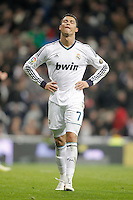 Real Madrid's Cristiano Ronaldo reacts dejected during King's Cup match. January 15, 2013. (ALTERPHOTOS/Alvaro Hernandez) /NortePhoto