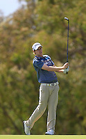 Kevin Phelan (IRL) on the 18th during Round 1 of the ISPS HANDA Perth International at the Lake Karrinyup Country Club on Thursday 23rd October 2014.<br /> Picture:  Thos Caffrey / www.golffile.ie