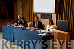 Fearghal Grimes, (General Manager University Hospital Kerry), Dr Claire O'Brien, Consultant Physician, Gerard O'Callaghan (Chief Operations South/SouthWest Hospital Group) and Celia Cronin Quality and Safety Manger (South/South West Hospital Group), at a University Hospital Kerry press Conference at the Rose Hotel, Tralee on Wednesday.