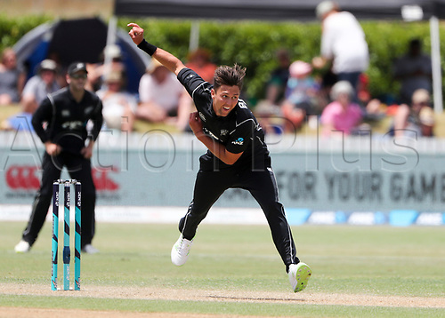 20th December, 2017, Whangarei, New Zealand;  New Zealand's Trent Boult. New Zealand Black Caps versus West Indies, first One Day International cricket, Cobham Oval, Whangarei, New Zealand. Wednesday, 20 December, 2017.