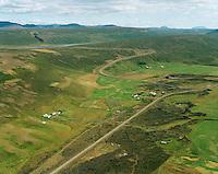 Brekka t.v. og Klömbur í miðju, Presthvammur í bakgrunni Aðaldælahreppur,.  Klombur in center and Presthvammur in background, Adaldaelahreppur.
