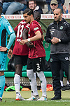 11.05.2019, HDI Arena, Hannover, GER, 1.FBL, Hannover 96 vs SC Freiburg<br /> <br /> DFL REGULATIONS PROHIBIT ANY USE OF PHOTOGRAPHS AS IMAGE SEQUENCES AND/OR QUASI-VIDEO.<br /> <br /> im Bild / picture shows<br /> Spielerwechsel Hannover 96, Einwechslung Miiko Albornoz (Hannover 96 #03), Auswechslung Ihlas Bebou (Hannover 96 #13), <br /> <br /> Foto © nordphoto / Ewert