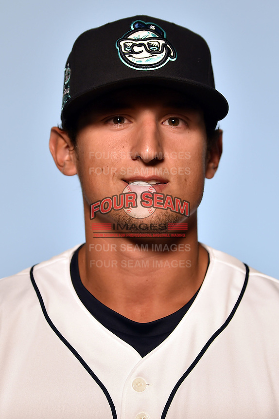 Asheville Tourists pitcher Jerry Vasto (28) on April 7, 2015 in Asheville, North Carolina. (Tony Farlow/Four Seam Images)