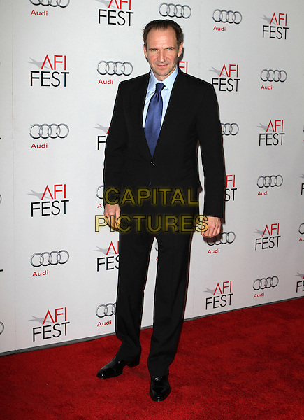 """Ralph Fiennes.AFI Fest 2011  Premiere Of """"Coriolanus"""" Held At Grauman's Chinese Theatre, Hollywood, California, USA..November 7th, 2011.full length black suit blue tie shirt.CAP/ADM/KB.©Kevan Brooks/AdMedia/Capital Pictures."""