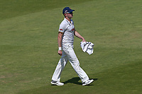 Essex bowler Sam Cook leaves the field during Lancashire CCC vs Essex CCC, Specsavers County Championship Division 1 Cricket at Emirates Old Trafford on 11th June 2018